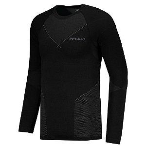 Camisa Compressão M.Longa Poker X-Ray Ii Preto