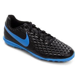Chuteira Suíço Nike Legend Club 8 Preto/Azul