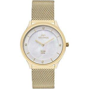 Relógio Technos Feminino Slim Dourado GL20HH1B
