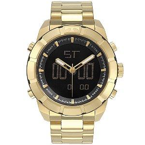 Relógio Technos Masculino Anadigi Dourado BJ3340AC4P