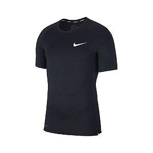 Camiseta Nike Pro Top Ss Tight Preto
