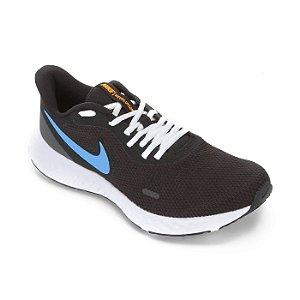 Tenis Nike Revolution 5 Preto/Azul