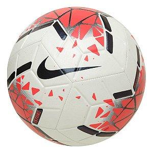 Bola Futebol Campo Nike Strike Branco/Vermelho
