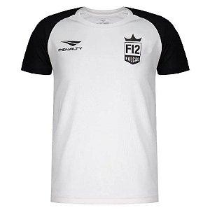 Camiseta Penalty F12 Jogo Juvenil Branco/Preto