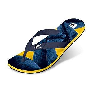 Sandália Kenner Summer Bananeira Amarelo/Azul