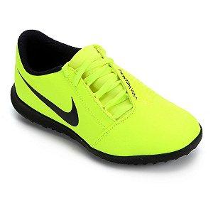 Chuteira Society Nike Phantom Venom Club Tf Verde Limão Infantil