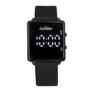 Relógio Condor Feminino Led Preto COBJ3382AD5P
