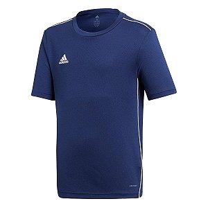 Camiseta Adidas Core 18 Infantil Marinho/Branco