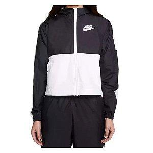 Jaqueta Corta Vento Nike Core Preta E Branca