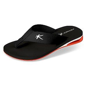Sandália Kenner Amp Turbo K Colorido Preto/Branco/Laranja