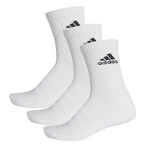 Kit 3 Meias Adidas Cano Alto Cush Crw Branca 35-37