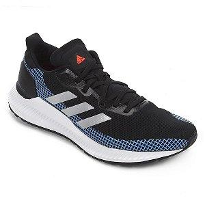 Tenis Adidas Solar Blaze Preto/Azul Masculino