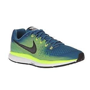 Tenis Nike Air Zoom Pegasus 34 Amarelo/Azul Masculino