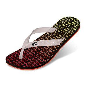 Sandália Kenner Summer Print Vermelho/Amarelo