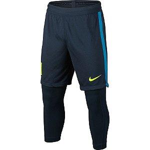 Shorts Calça Compressão Neymar Jr Azul Infantil