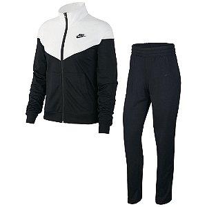 Agasalho Nike Sportswear Feminino Preto/Branco