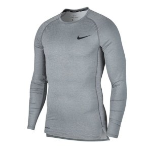 Camiseta Nike Pro Top Tight M/L Cinza