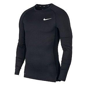 Camiseta Nike Pro Top Tight M/L Preta