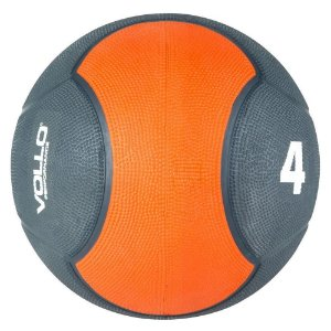 Medicine Ball 4kg Vollo Preta/Laranja