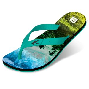 Sandália Kenner Summer Floresta Tropical Verde