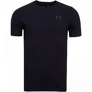 Camiseta Under Armour Left Chest Preto Masculino