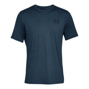 Camiseta Under Armour Left Chest Azul Marinho Masculino