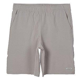 Shorts Oakley Breathe Woven Cinza Masculino
