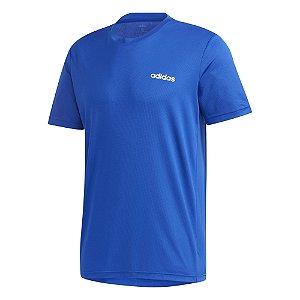 Camiseta Adidas D2m Pl Azul Masculino