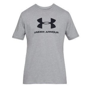 Camiseta Under Armour Sportstyle Logo SS Cinza Masculino