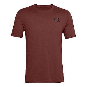 Camiseta Under Armour Sportstyle Left Chest SS Bordo Masculino