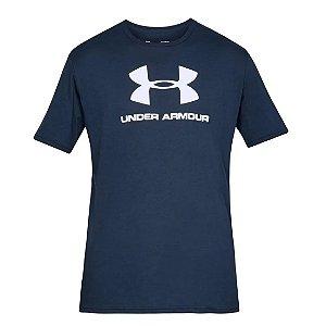 Camiseta Under Armour Sportstyle Logo SS Azul Marinho Masculino