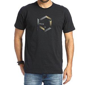 Camiseta Vlcs 20130 Preto Masculino