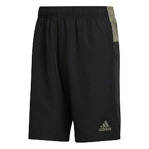 Shorts Adidas Color Block Preto/Verde Masculino