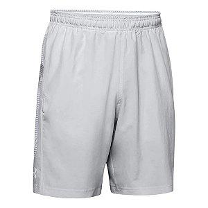 Shorts Under Armour Woven Graphic Cinza Claro Masculino