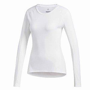 Camiseta Adidas Supernova M/L Branco Feminino