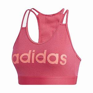 Top Adidas Leve Suporte Bt Rosa Feminino