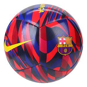 Bola Campo Nike Barcelona Pitch Vermelho