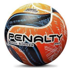 Bola De Beach Soccer Penalty Pro IX Branco/Laranja
