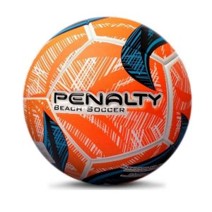 Bola De Beach Soccer Penalty Fusion 2 IX Branco/Laranja