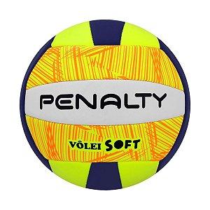 Bola De Volei Penalty Soft X Branco/Azul Marinho