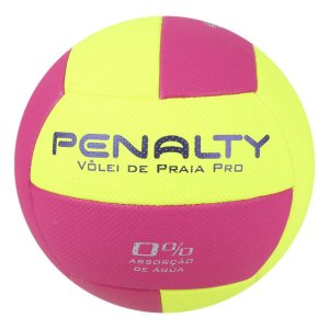 Bola De Volei De Praia Penalty Pro X Amarelo/Roxa