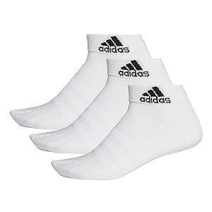 Kit 3 Meias Adidas Cano Medio 3pp Branca 38-44 Masculino