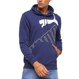Moletom Puma Big Logo Azul Marinho Masculino
