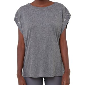 Camiseta Colcci Comfort Cinza Mescla Feminino