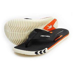 Sandália Kenner Kick.S Arrow Preto/Branco/Laranja Masculino