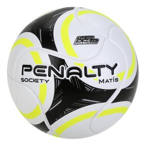Bola Society Penalty Matis Branco/Preto/Amarelo