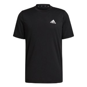 Camiseta Adidas D2m Plain Preto Masculino