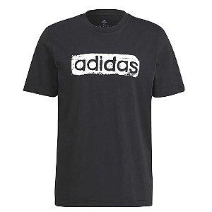 Camiseta Adidas Linear Preto Masculino