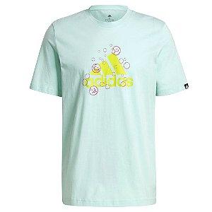 Camiseta Adidas Grafica Smile Verde Claro Masculino