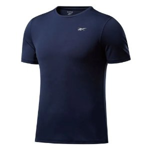 Camiseta Reebok Basic Ss Azul Marinho Masculino